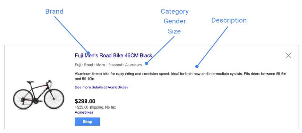 Shopping google tips fiets
